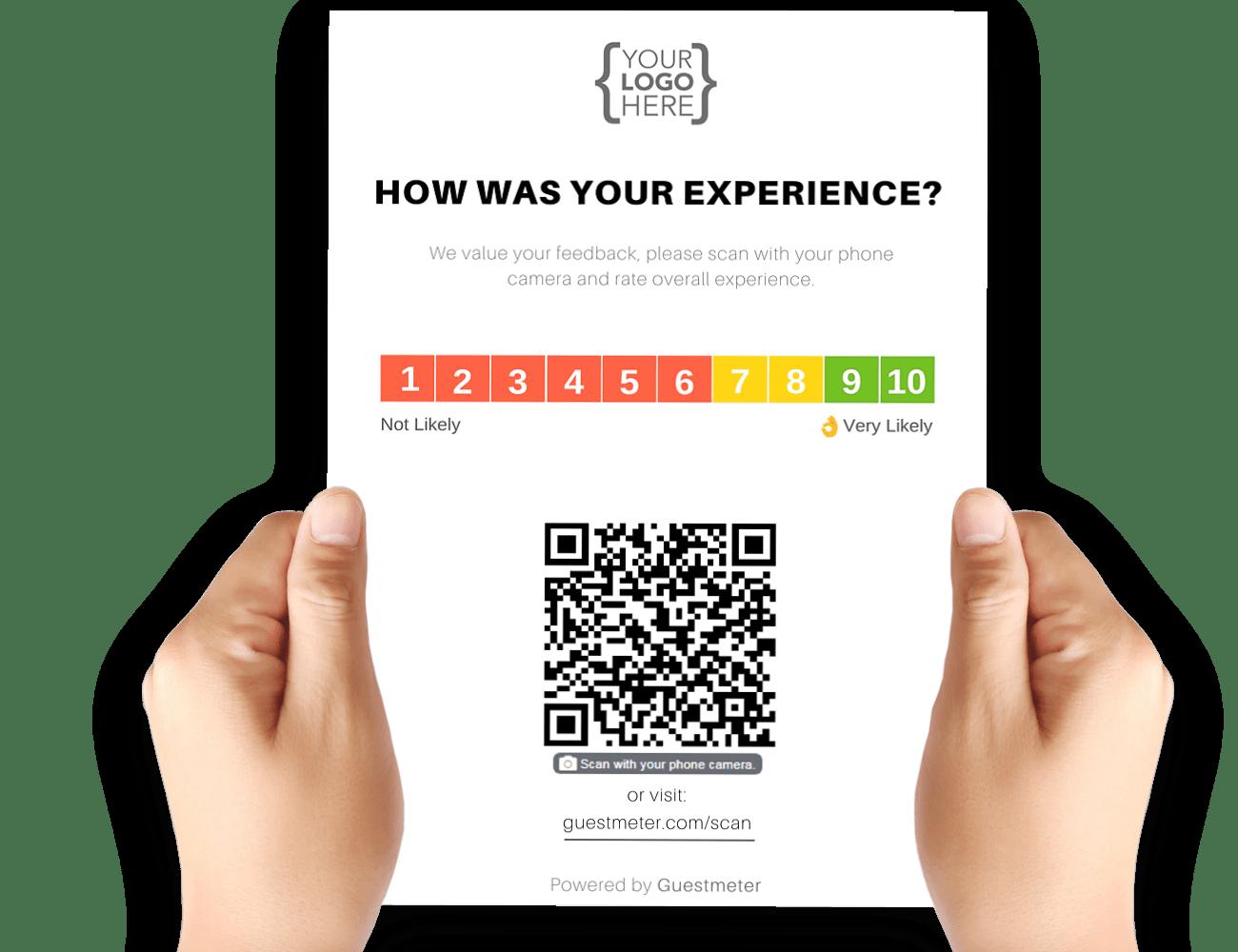 Guesthouse / B&B QR Code Survey